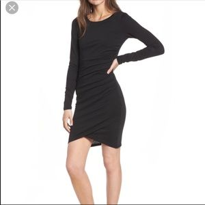 Leith Ruched Longsleeve Dress NWT